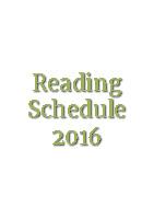 Reading-Schedule